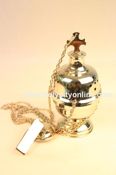 Thurible /Brass/Chromium plated/Church Supplies/HOLY CITY