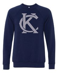 KC Logo Crew Neck Triblend Sweatshirt