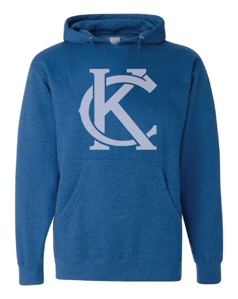 Official KC logo Heather Royal Hooded Sweatshirt