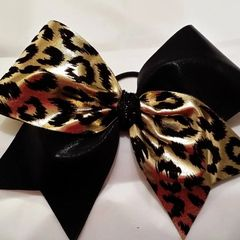 "GOLD & BLACK ""Soft Feel"" CHEETAH ANIMAL PRINT / BLACK METALLIC"