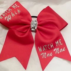 CHEER BOW -WATCH ME Whip WATCH ME Nae Nae CHEER BOW ( You have the option to change RIBBON COLOR )