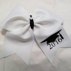 GRADUATION YEAR & NAME ( PLAIN GG BOW ) CHEER BOW