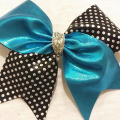 METALLIC / BLACK with SILVER HOLOGRAM POLKADOTS - Choose your colors