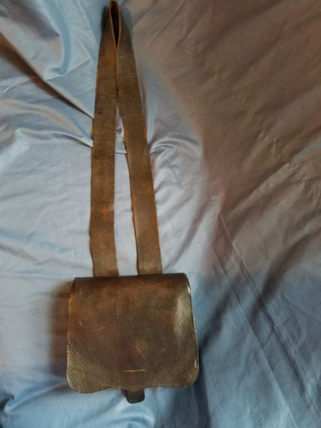 CONFEDERATE CARTRIDGE BOX AND SLING