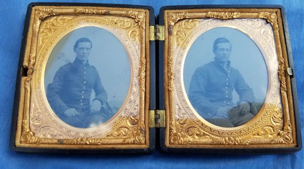 Double cased Union Soldiers Tintype