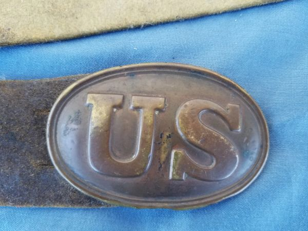 US BUFF WAIST BELT AND BUCKLE