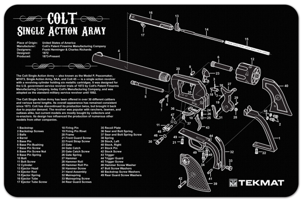 colt single action army  45 revolver cutaway diagram tekmat | firing  solutions