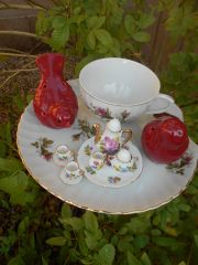 *SOLD* Red Bird Tea Party