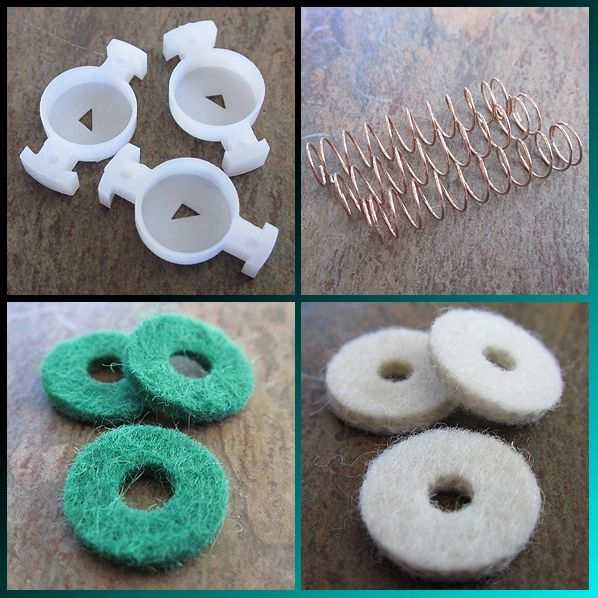 BENGE Bb Trumpet Rebuild Kit Tune-Up Kit - Finger Button Felts Version