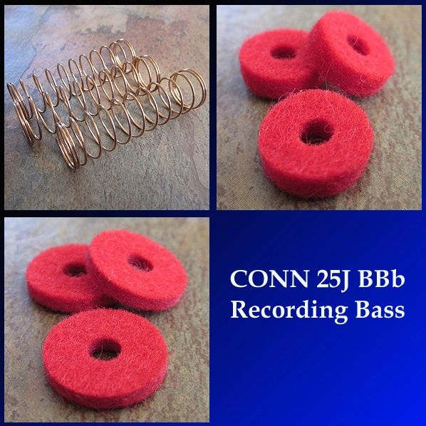 CONN 25J BBb RECORDING BASS Rebuild Kit - Tune-Up Kit