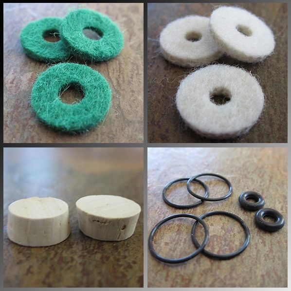 BENGE Essentials Corks & Felts Kit - For Finger Button Felts Models