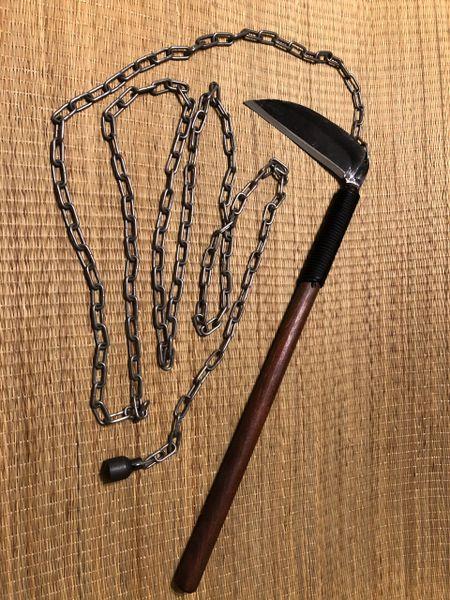 kusarigama : chain and sickle ninja samurai japanese weapon