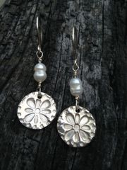 December 30th, Fine silver Precious Metal Clay earrings class COMPLETED