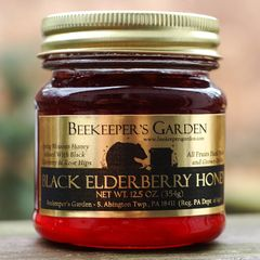 Black Elderberry Honey with Rosehips, 12.5 Oz.