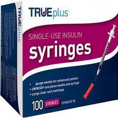 "TRUEplus Insulin Syringes 31G .3cc 5/16"" , 100/Box , 10 Box/Case , Trividia 56151-1732-01"