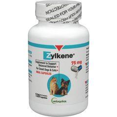 Zylkene Capsules 75 mg , 120/Bottle , VETOQUINOL 443963
