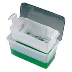 C-Tub Instrument Receptacle 13.5 in x 7.5 in x 6.25 in Transparent 1 Gallon Reusable Each , Cetylite 0106