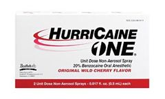 BEUTLICH HURRICAINE ONE HurriCaine ONE, Unit Dose Non-Aerosol Spray, 0.5mL, 2/bx , 10 Box/Case , BEU 0283-0610-11