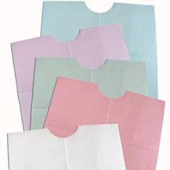 Bib 17 in x 18 in Blue 2 Ply Tissue / Poly 500/Case , Tidi 917343