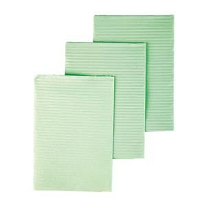 All Tissue Deluxe Towel Bib 13 in x 18 in Green Waffle Embossed 3 Ply Tissue / Poly 500/Case ,Tidi 918102