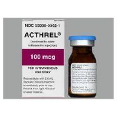 Acthrel Corticorelin Ovine Triflutate 100 mcg Intravenous Injection Vial 6 mL , Ferring Laboratories 55566030201