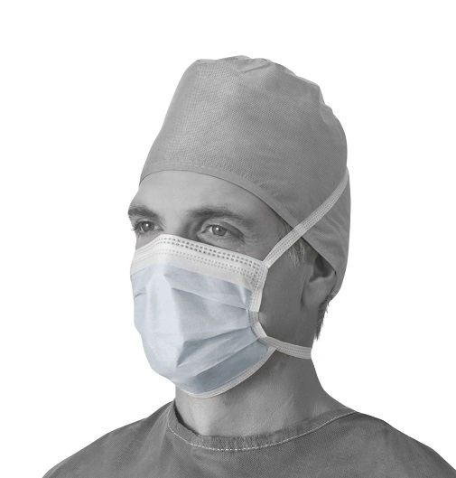 Anti-Fog Surgical Face Mask with Ties, Blue , 50/Box , Ameri NON27378A
