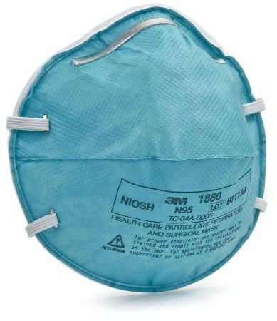 3M HEALTH CARE N95 PARTICULATE RESPIRATOR & SURGICAL MASK , 20 / BOX Regular, 20/box , 3M-1860