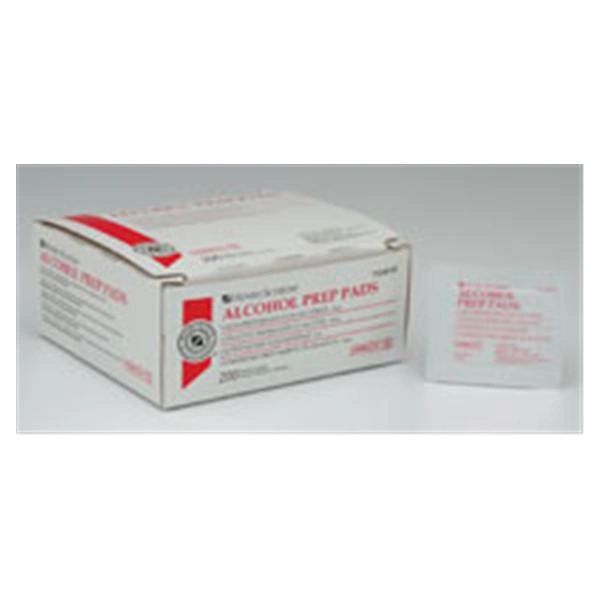 Alcohol Prep Pads Medium 30x30mm 2-Ply Sterile 200/Box , 20 Box/Case , Alcohol Prep Pads Medium 30x30mm 2-Ply Sterile 200/Box , 20 Box/Case , HS1007-Case