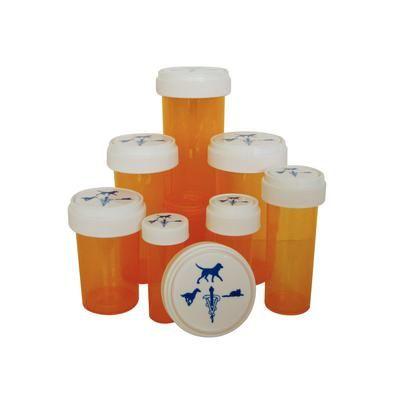 Amber Plastic Prescription Vials 60 Dram, 115/Pkg , Pivetal 21295099