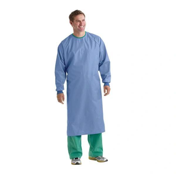 AngelStat 1-Ply Blockade Surgical Gown, Ceil Blue, Large , Each , Medline MDT012090L
