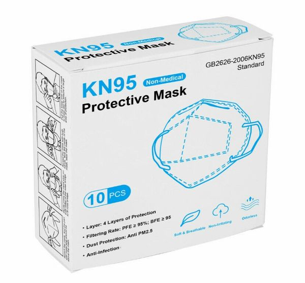 10 Pack of KN95 CE certified Face Protection Respirator Masks , KN95-GB26