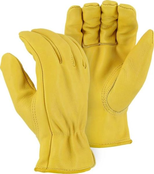 Cowhide Leather Driver's Gloves Unlined, XL , 3 Pairs/Pack , UL S-6777XL