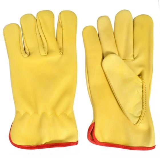 Cowhide Leather Driver's Gloves Lined, XL , 3 Pairs/Case , UL S-10443X