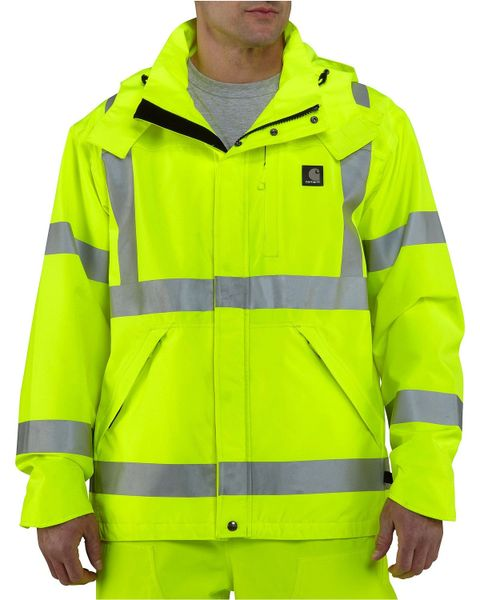 Class 3 Reflective High Risk Environments Jacket , Lime , Large , UL S-22970G-L