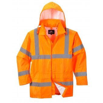Class 3 Reflective High Risk Environments Jacket , Large , Orange , UL S-22970O-L