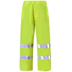 Class 3 Reflective High Risk Environments Pants Lime , Large , UL S-22971G-L
