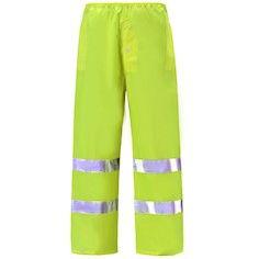 Class 3 Reflective High Risk Environments Pants 2XL , Lime , UL S-22971G-2X