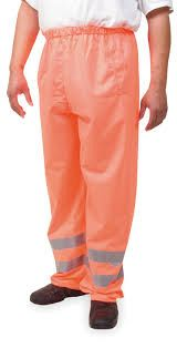 Class 3 Reflective High Risk Environments Pants Medium , Orange , UL S-22971O-M