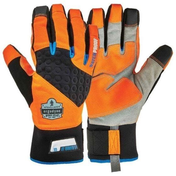 Ergodyne ProFlex Thermal Utility Gloves , Different Sizes , Color Orange , Safety ERG-818WP-OR
