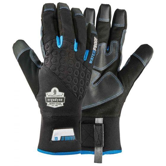 Ergodyne ProFlex Thermal Utility Gloves Size 2X-Large , Color Black , Safety ERG-ERG-818WP-BK