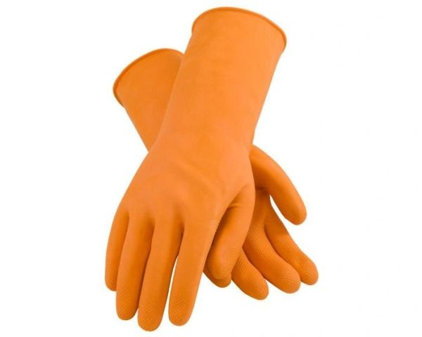 Assurance 28-mil Industrial Latex Orange Safety Gloves 12 Pack , Different Sizes , Safety PIP-48-L302T-2X-12PK