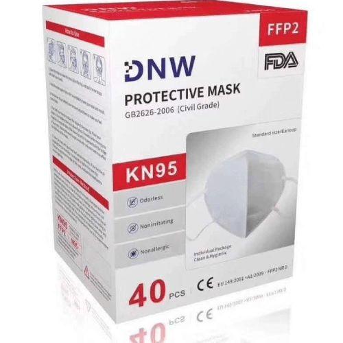 40 PCS DNW KN95 FFP2 Face Mask Mouth Cover Disposable Masks Respirator , KN95-40