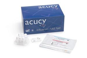 Acucy Influenza A & B Cassette Test Kit CLIA Waived For Acucy Reader Only 25 Tests /Pack , GEN 1010