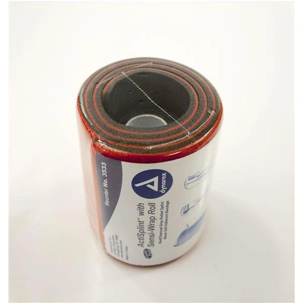 ActiSplint General Purpose Splint Rolled Splint Red / Charcoal Gray 4-1/4 X 36 Inch - Splint, 2 Inch X 5 Yard - Sensi-Wrap ,50/Case , Dynarex 3533