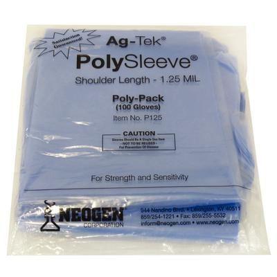 Ag-Tek PolySleeve OB Sleeves 1.25 mil, 100/Pack , Heavy Duty , NEOGEN P125