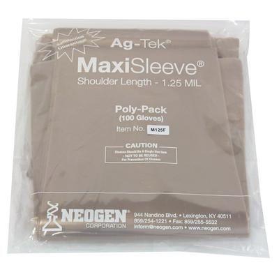 Ag-Tek MaxiSleeve OB Gloves 1.25 mil, Extra Strength, 100/Pack , Fingerless, NEOGEN M125-F