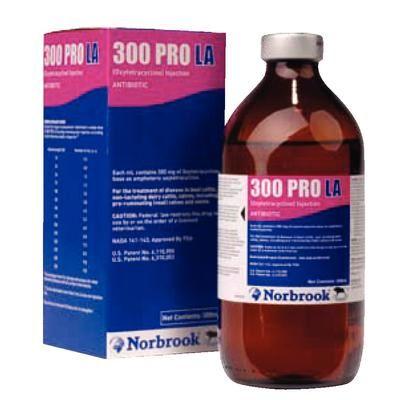 300 PRO LA Oxytetracycline Injectable 100 ml , NORBROOK 601220867001