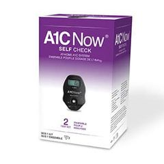 A1C Now Rapid Diagnostic Test Kit Self Check Diabetes Management HbA1c Test Whole Blood Sample 2 Tests , 48/Case , Polymer Technology 3030