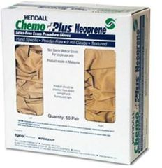 Exam Glove ChemoPlus™ NonSterile Powder Free Neoprene Hand Specific Textured Fingertips Beige Chemo Tested Medium , 50 Pairs/Box , 3 Box/Case , Covidien CT21921