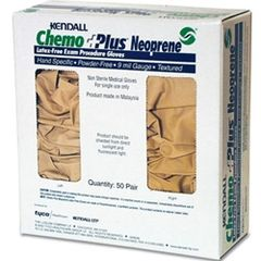 Exam Glove ChemoPlus™ NonSterile Powder Free Neoprene Hand Specific Textured Fingertips Beige Chemo Tested Small , 50 Pairs/Box , 3 Box/Case , Covidien CT21911